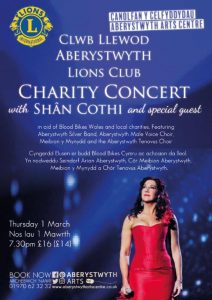 Charity Concert with Shan Cothi @ Aberystwyth Arts Centre